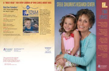 2006 Annual Report - the Steele Children's Research Center ...