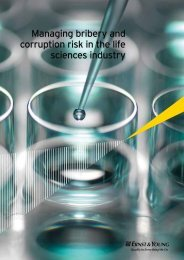 Managing bribery and corruption risk in the life sciences industry