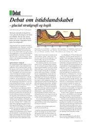 Debat om istidslandskabet - Danmarks geologiske seværdigheder