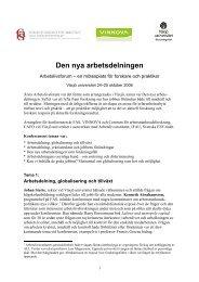En gemensam europeisk plan för sysselsättning och tillväxt: Anna ...