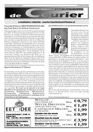 De Courier 15 februari - Stichting Buurtontwikkeling Heerlerbaan