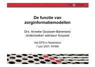 De functie van zorginformatiemodellen - EPD-ZORG ICT Congres