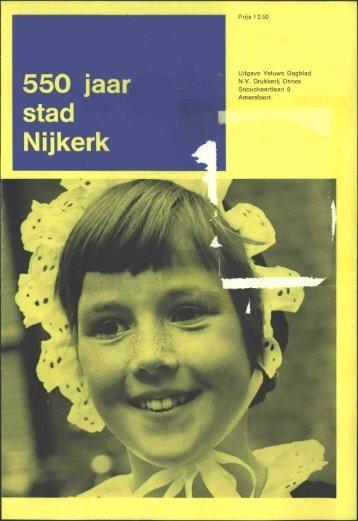 Boekje 550 jaar stad Nijkerk - Nijkerk 600 jaar