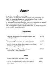 Menukaart - Hotel Herberg De Smidse