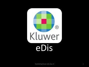 Handleiding Kluwer eDis - eDis App - Kluwer