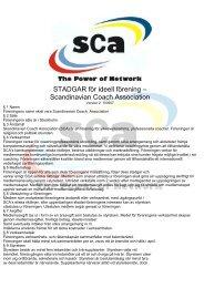 Ta del av SCA stadgar - Scandinavian Coach Association