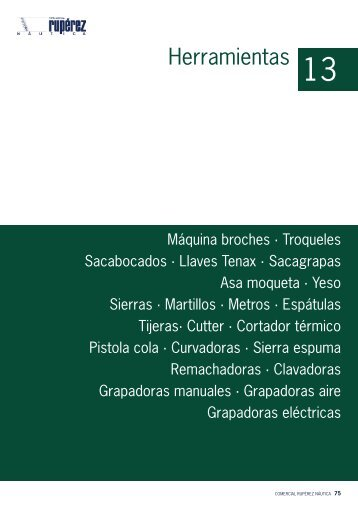 Herramientas - Comercial Rupérez Náutica
