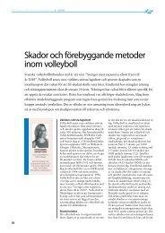 Skador och förebyggande metoder inom volleyboll (2008) - GIH