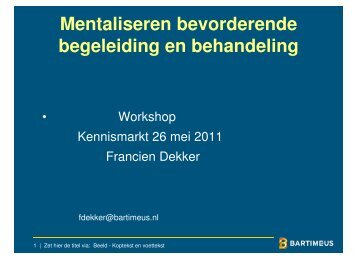 Mentaliseren bevorderende begeleiding en behandeling - Kennisplein