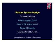 Robust System Design - VLSI