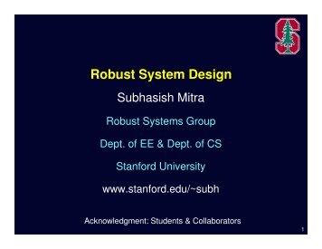 Robust System Design - VLSI