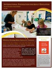 INTERNATIONAL FOUNDATION FOR ADULT ... - Ifae-institute.org