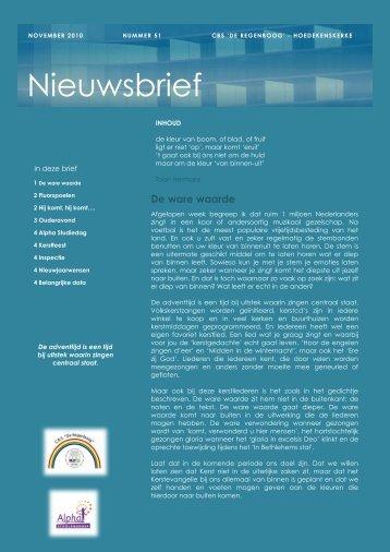 Nieuwsbrief medewerkers - Regenboog Hoedekenskerke