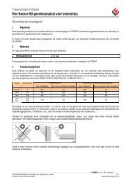 Eter-Backer HD gevelsteunplaat voor steenstrips - Multiplaat ...