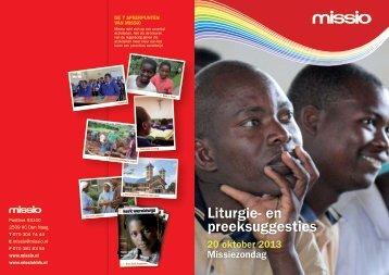 Liturgie- en preeksuggesties Missiezondag (in PDF) - Klap