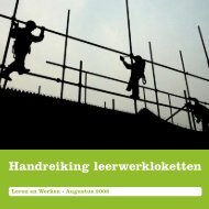 Handreiking leerwerkloketten - Kennisbank Leven Lang Leren