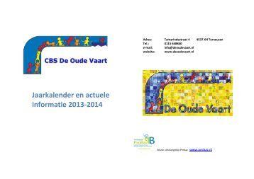Jaarkalender-schoolgids ouders 2013-2014 - De Oude Vaart