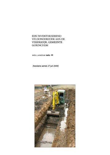 Download rapport - Archeologie in Gorinchem
