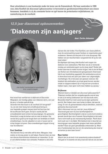 een interview met Joke Koolhof - Protestantse Gemeente Amersfoort