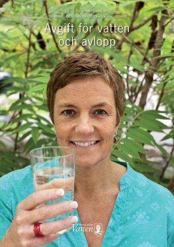 Avgift för vatten och avlopp - Stockholm Vatten