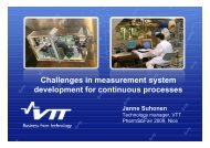 Challenges in measurement system development for ... - eufeps