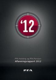 Aflønningsrapport 2012 - PFA Pension