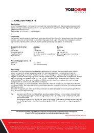 Technical Data Sheet product - Vosschemie Polyester De Moor