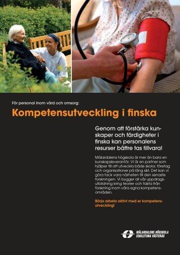 Produktblad Kompetensutveckling i finska - Mälardalens högskola