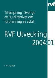 Tillämpning i Sverige av EU-direktivet om förbränning av avfall