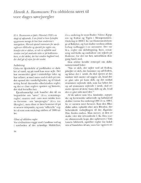 Fra oldtidens søret til vores dages søvejsregler, s. 94-118