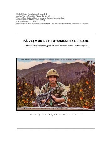 PÅ VEJ MOD DET FOTOGRAFISKE BILLEDE - Tardrup