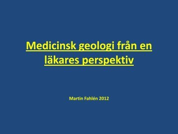 Geologi-Medicin