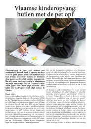 Vlaamse kinderopvang: huilen met de pet op?
