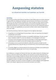 het voorstel tot statutenwijziging