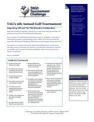 TAG's 9th Annual Golf Tournament - Technology Association of ...