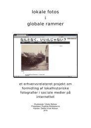 lokale fotos i globale rammer - Arkivformidling