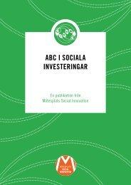 ABC i SoCiAlA inveSteringAr - Mötesplats Social Innovation
