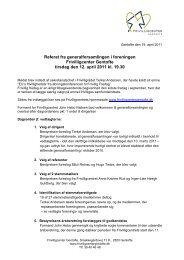 eneralforsamlingen tirsdag den 12. april 2011 - Frivilligcenter Gentofte