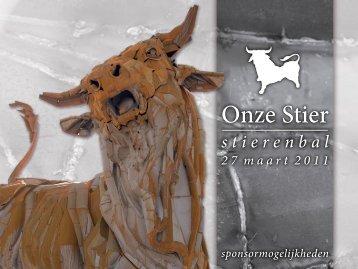 stierenbal 27 maart 2011 sponsormogelijkheden - onze stier