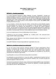REGLEMENT COMPLET DU JEU - Le Cuillère Code - Danette