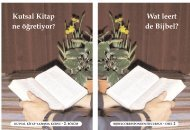 Wat leert de Bijbel? Kutsal Kitap ne ö€retiyor? - İncil.nl