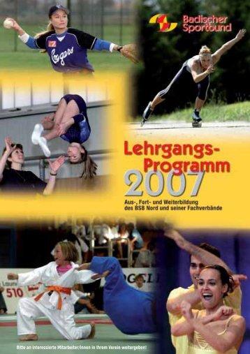 Verbands-Lehrgänge - Badischer Sportbund Nord ev