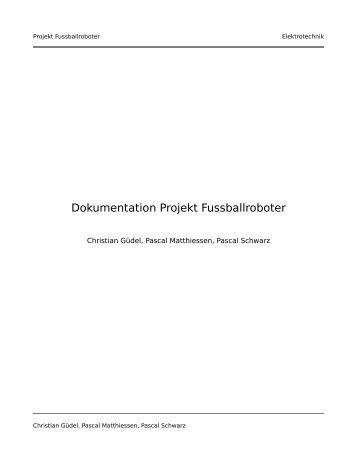 Dokumentation Projekt Fussballroboter - kladde.org