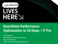 SharePoint Performance Optimization in 10 Steps - IT - Aptimize