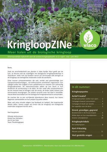 KringloopZINe 2 april - mei - juni 2013 - Vlaco