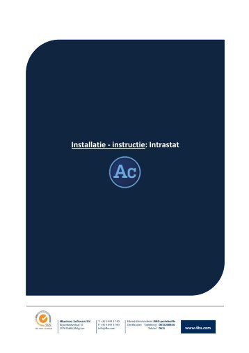 Installatie procedure Intrastat 4213 - 4Business Software