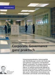 Corporate Governance ganz praktisch