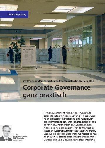 Corporate Governance ganz praktisch