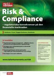 – regulatoriska konsekvenser på den finansiella marknaden