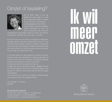 Omzet of bezieling? - The RetailMatch Group